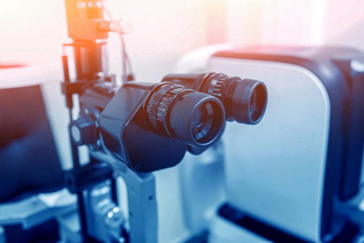 метод биомикроскопии глаза колобоме